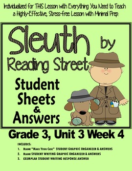 """Sleuth Reading Street Gr 3 Unit 3 Wk 4 """"A Whale of a Rescu"""
