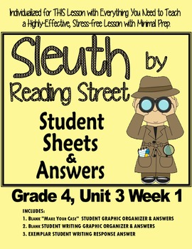 Sleuth Reading Street, Gr. 4 Unit 3 Wk 1 What's Weather Li