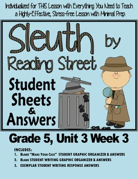 "Sleuth Reading Street, Gr 5. Unit 3 Wk 3 ""Bone & the Tooth"
