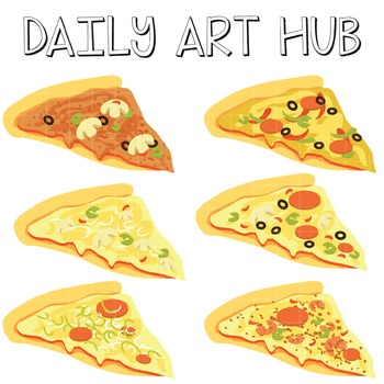 Sliced Pizza - Great for Art Class Projects!