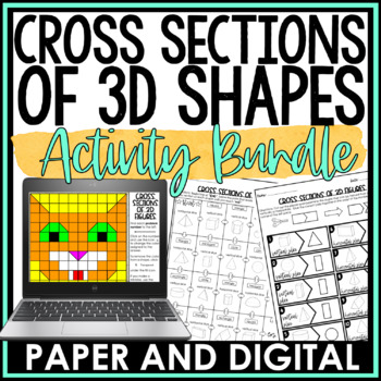 Slicing 3D Figures Activity Pack