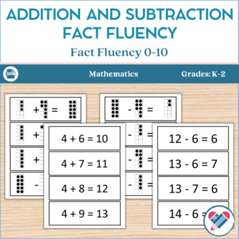 Slide Cards for Addition and Subtraction