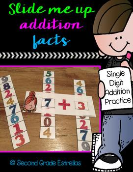 Slide Me Up Single Digit Addition Facts