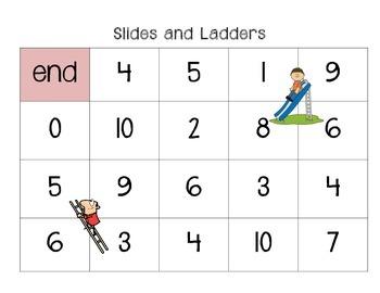 Slides & Ladders: Math File Folder Game