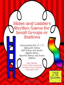 Slides and Ladders: Rhythm Reading Game Syncopated Edition