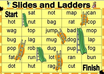 Slides and Ladders (with words)