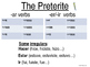 Slideshow: Preterite vs. Imperfect Overview