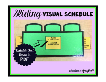 Sliding Visual Schedule Template