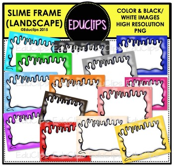 Slime Frames Clip Art Bundle