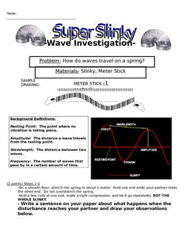 NGSS Properties of Waves: Super Slinky Waves