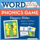 Slippery Slides Short I / CVCe I Phonics Game
