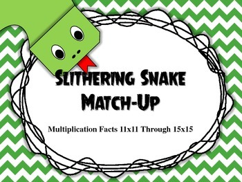 Slithering Snake Match Up 11x11 Through 15x15