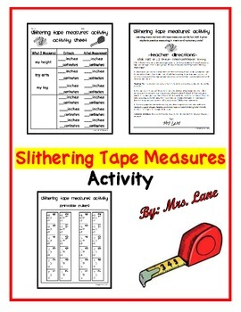 Slithering Tape Measures Activity