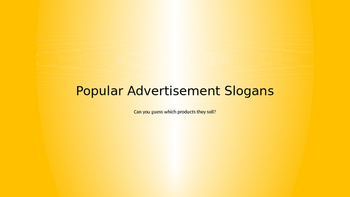 Slogan Identification, Classification, and Creation PPT
