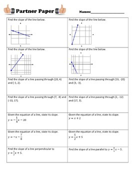 Slope & Equations with Parallel & Perpendicular Lines Part