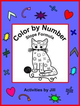 Slope Formula Color by Number