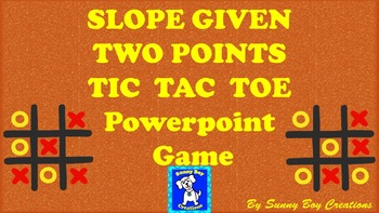 Slope Given Two Points Tic Tac Toe Powerpoint Game