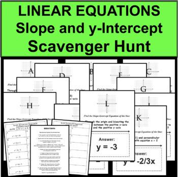 Slope Intercept Equation Graphing Scavenger Hunt Travel Ac