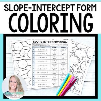 Slope Intercept Form Coloring Worksheet