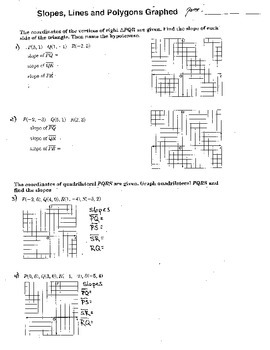 Slope Intercept Form Graphing Honors Double Sided Workshee