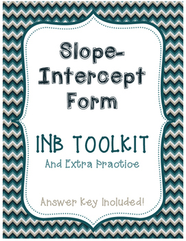 Slope-Intercept Form Interactive Notebook Toolkit and Extr
