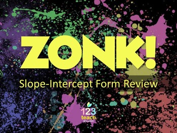 Slope-Intercept Form ZONK! Review Game