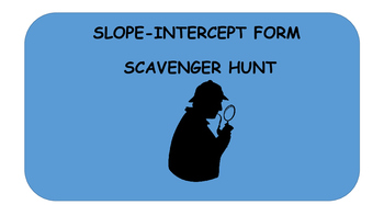 Slope-Intercept form Scavenger Hunt