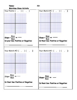 Slope Matching Activity