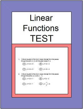 Slope - SMART Response (Slope and Linear Functions Common