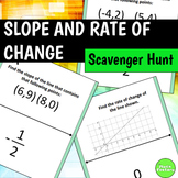 Slope and Rate of Change Scavenger Hunt