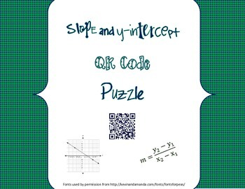 Slope and y-intercept QR Code Station Activity