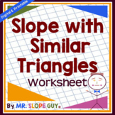 Slope with Similar Triangles PDF Worksheet 8.EE.B.6 Go Math