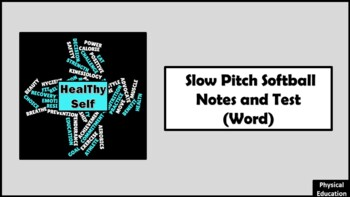 Slow Pitch Softball Notes and Test