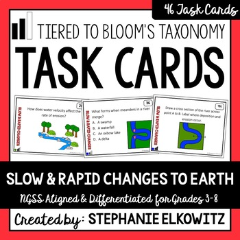 Slow and Rapid Changes to Earth Task Cards (Differentiated