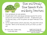 Slow and Steady: Slow Speech Rate and Giving Directions