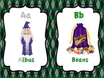 Slytherin ABC Cards (Harry Potter)
