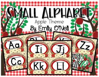 Small Alphabet (Apple Theme)