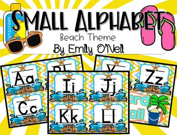 Small Alphabet (Beach Theme)