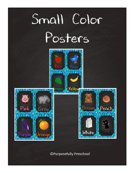 Small Chalkboard Color Posters Mosaic