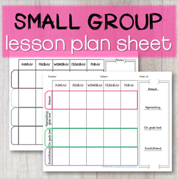 Small Group ACTION PLAN Attendance Sheet