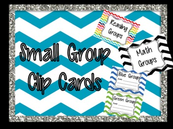 Small Group Color Clip Cards Math, Reading, and Writing