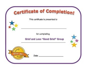 Small Group Completion Certificate: Grief and Loss