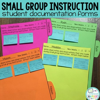 Small Group Instruction Student Documentation Forms {editable}