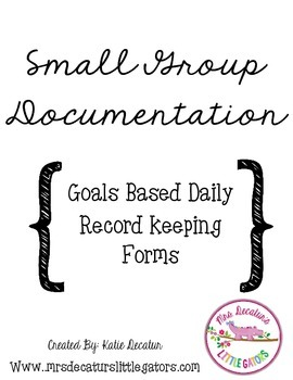 Small Group Intervention Records/Lesson Plan Template