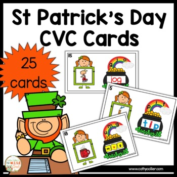 Small Group Interventions Set: St. Patrick's Day CVC Cards