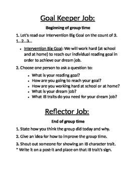 Small Group Job descriptions
