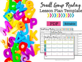 Small Group Lesson Plan Template- Editable