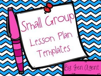 Small Group Lesson Plans