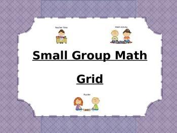Small Group Math Grid
