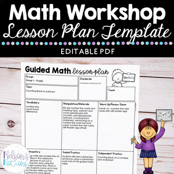 Small Group Math Lesson Plan Template